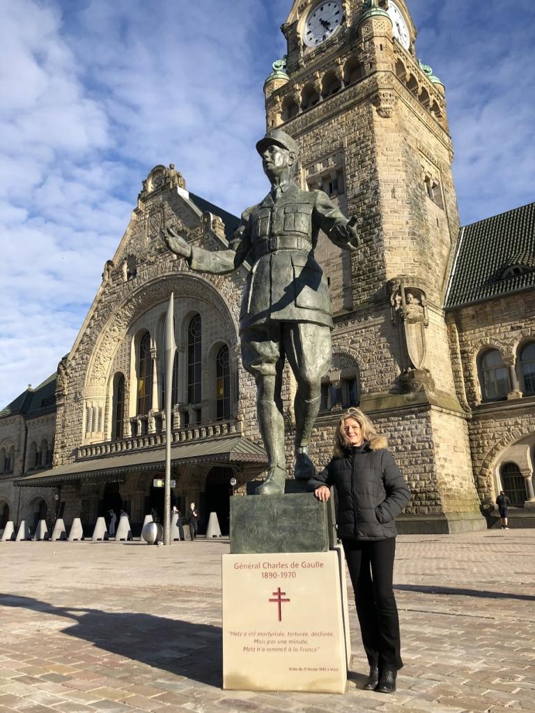 La statue du Gal de Gaulle et son sculpteur - Metz - mars 2021