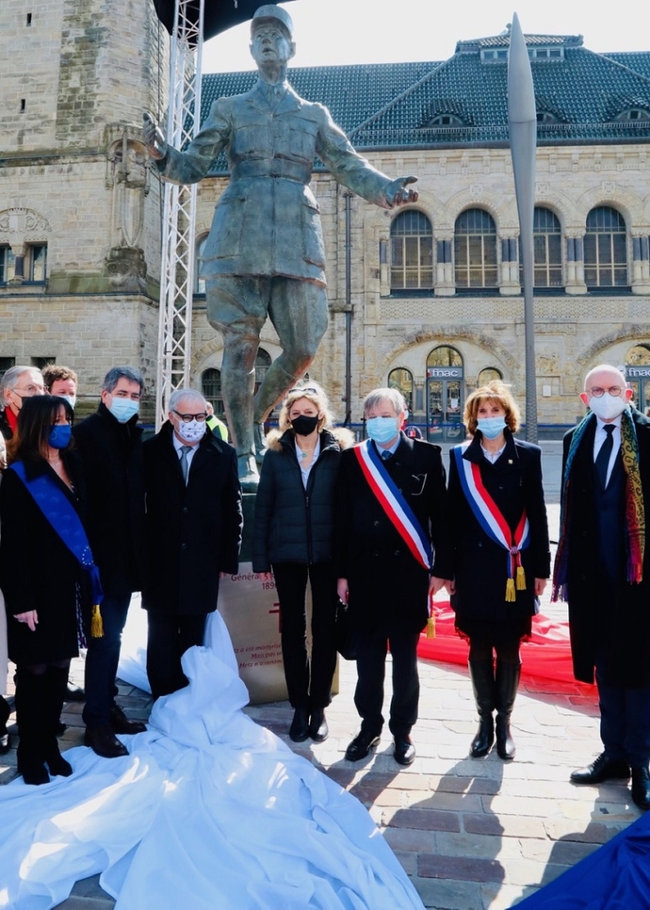 Inauguration du monument en hommage à Charles de Gaulle - Metz