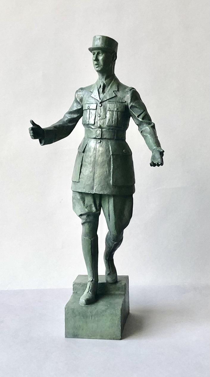 Le Général de Gaulle - Bronze H : 40 CM