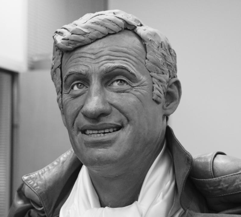 Jean-Paul Belmondo - Modelage preparatoire - copyright Musee Grevin